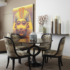 Eclectic Dining Room by Jessica Lagrange Interiors