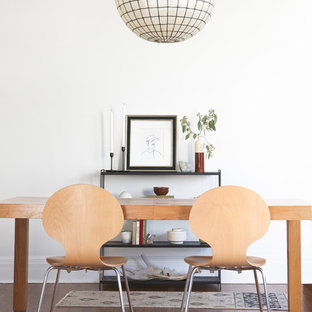 Dining Room Scandinavian Dark Wood Floor And Brown Idea In Salt Lake