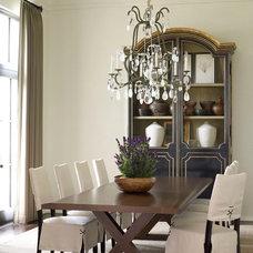 Transitional Dining Room by Bellacasa Design Associates, Inc.