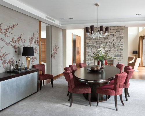 Houzz Wallpaper Dining Room: Stone Wallpaper Ideas, Pictures, Remodel And Decor