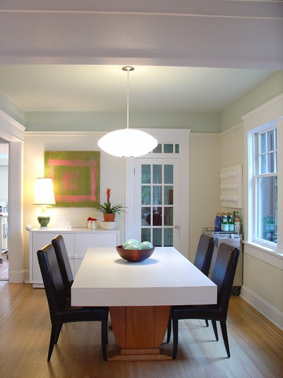 Eclectic Dining Room by Johnson + McLeod Design Consultants