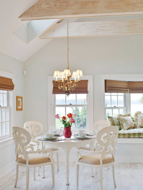 Dining Room   Traditional Light Wood Floor Dining Room Idea In Baltimore  With Gray Walls
