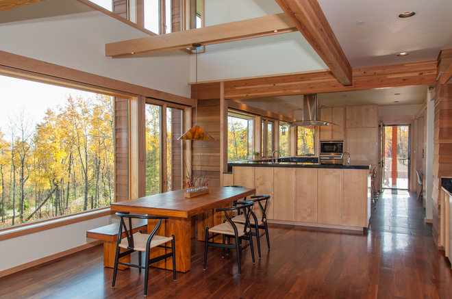 Contemporary Dining Room by Bruckelmyer Brothers Construction LLC