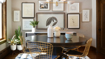 Eastside Tudor Dinette and Picture Wall with Hidden TV
