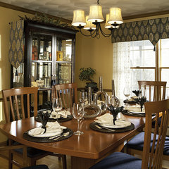contemporary dining room by Decorating Den Interiors-Strok Design Team