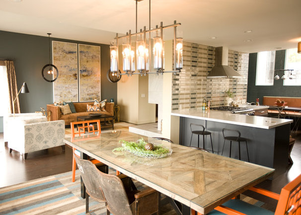 Transitional Dining Room by LOCZIdesign
