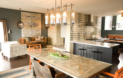 Kitchen of the Week: Navy and Orange Offer Eclectic Chic in California