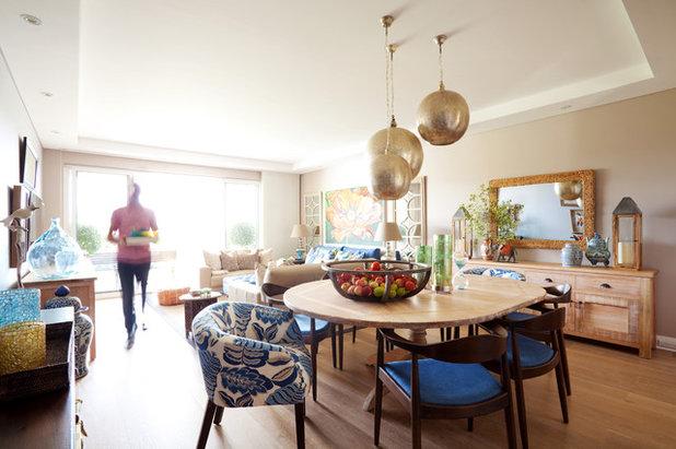 Фьюжн Столовая Eclectic Dining Room
