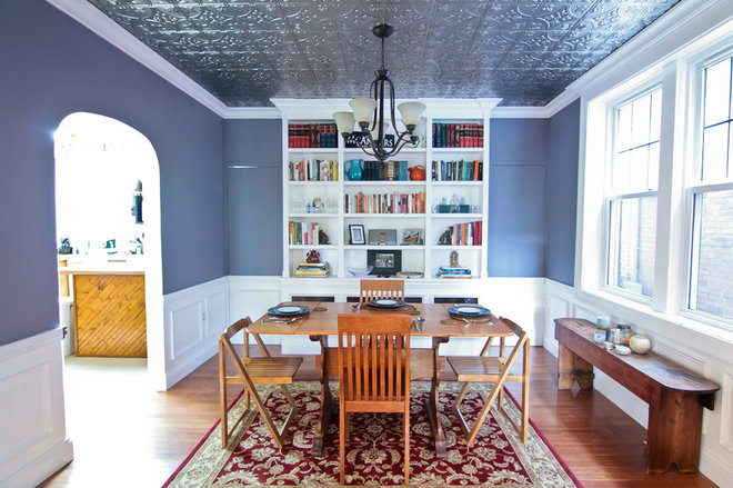 Eclectic Dining Room by Hamtil Construction, LLC