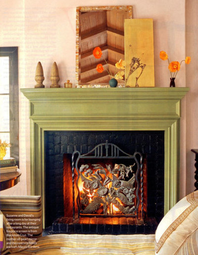 Painted fireplace mantels add pizzazz for Ramsey fireplace