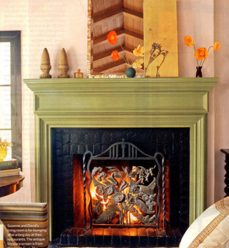 Painted Mantel Home Design Ideas, Pictures, Remodel And Decor