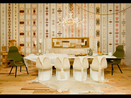 eclectic dining room by NICOLEHOLLIS
