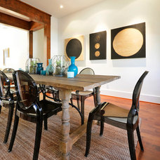 Eclectic Dining Room by Saavedra Design Studio
