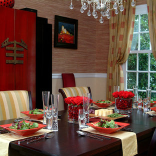 Eclectic dining room in Bryn Mawr, PA