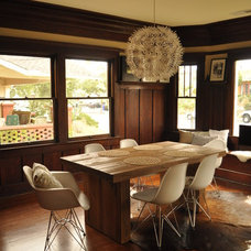 Midcentury Dining Room Eclectic Dining Room in Craftsman