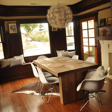 Transitional Dining Room Eclectic Dining Room in Craftsman