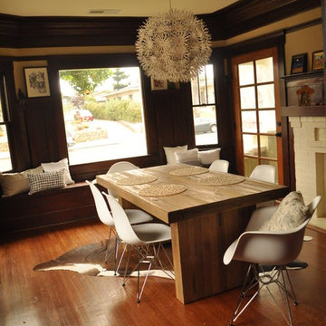 Eclectic Dining Room in Craftsman