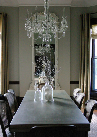 Eclectic Dining Room by Rebekah Zaveloff | KitchenLab