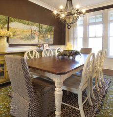eclectic dining room by Kristin Petro Interiors, Inc.