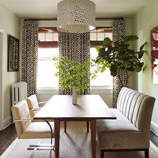 Eclectic Dining Room by Lauren Liess Interiors