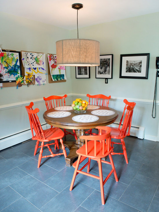 orange dining chair | houzz