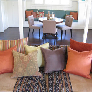 Eclectic Dining Room with Banquette