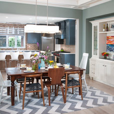 Contemporary Dining Room by Mike Schaap Builders