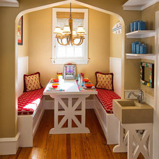 Mediterranean Dining Room Eclectic Kitchen