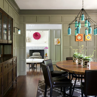 Eclectic Modern Tudor Dining Room