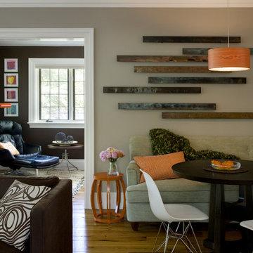 Eclectic Modern Tudor Family Room