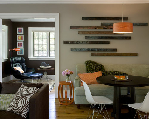 houzz  reclaimed wood wall art design ideas  remodel pictures, Living room