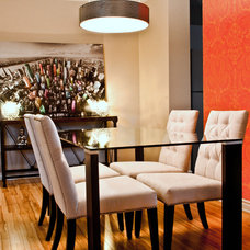 Eclectic Dining Room by Laura Boisvert Designs