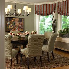 Eclectic Dining Room by Gale Michaud Interiors