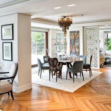 Contemporary Dining Room by Erol Sevimlisoy Emrah Sevimlisoy SevimliMimarlik