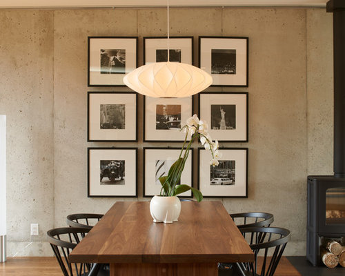 contemporary dining room design ideas remodels photos - Modern Contemporary Dining Room Furniture
