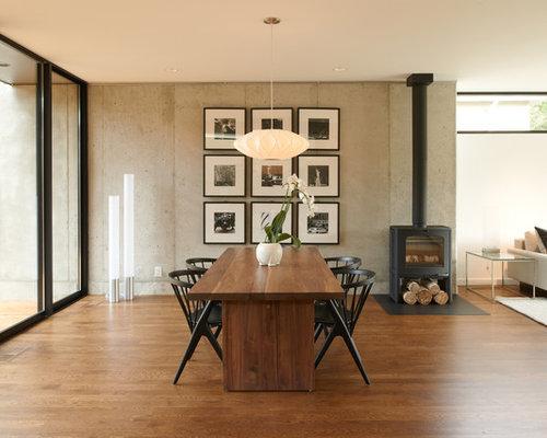 Modern dining room design ideas remodels photos for Modern dining room ideas