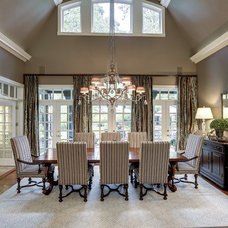 Traditional Dining Room by KBI Interior Design Studios