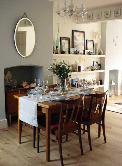 Eclectic Dining Room by Laura Porter Internal Design