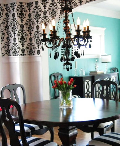 Eclectic Dining Room by Judith Balis Interiors