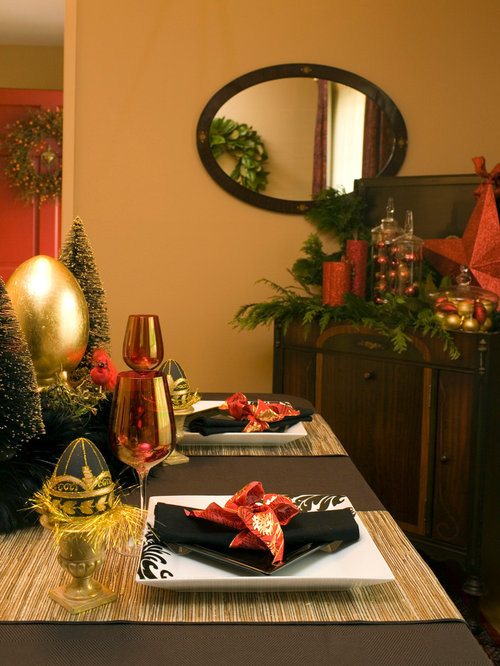 Elegant christmas decorations houzz for Classy xmas decorations