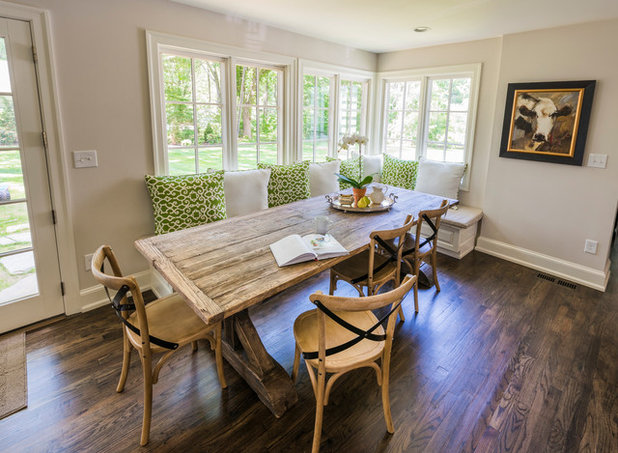 Transitional Dining Room by PS & Daughters