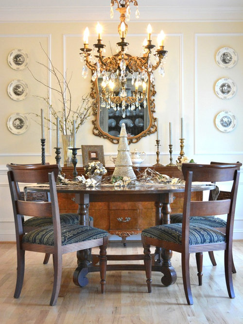 Traditional Light Wood Floor Dining Room Idea In DC Metro With Beige Walls Part 63