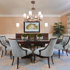 Traditional Dining Room by Paula Caponetti Designs LLC