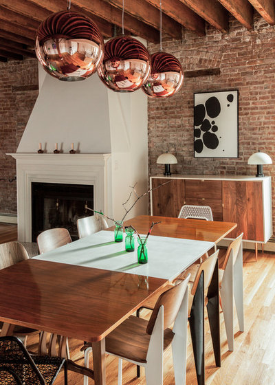Eclectic Dining Room by The New Design Project