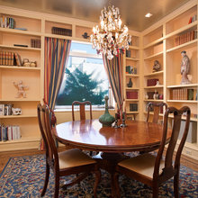 Books in dining room