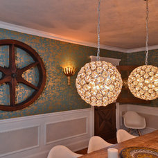 Eclectic Dining Room by Amanda Maier Design LLC