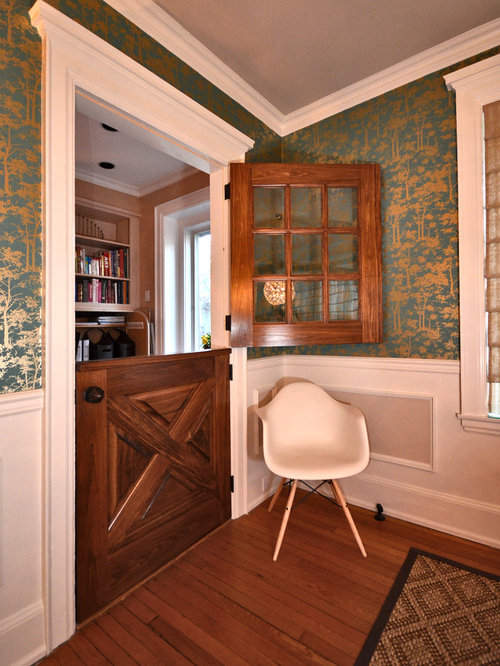 Superb Inspiration For An Eclectic Medium Tone Wood Floor Dining Room Remodel In  Philadelphia With Multicolored Walls