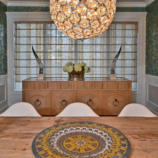 Eclectic Dining Room by AMW Design LLC