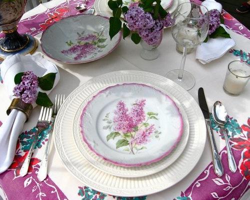 Elegant dining room photo in Atlanta & Stylish Dinner Plates   Houzz