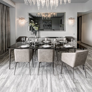 kitchen dining room lighting ideas. Inspiration For A Contemporary Medium Tone Wood Floor And Gray Dining  Room Remodel In Mumbai Kitchen Lighting Ideas N